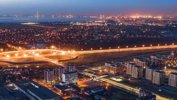 Красносельское шоссе ночью