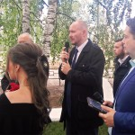 Выступает автор проекта комплекса, глава администрации Дмитрий Вячеславович Рытов