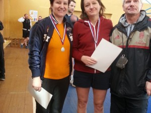 Второе место(женщины), в чемпионате по настольному теннису. 5апреля 2015г Никитина Марина(слева на фото)